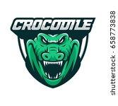 crocodile wild animal head... | Shutterstock .eps vector #658773838