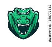 crocodile wild animal head... | Shutterstock .eps vector #658773862