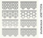 seamless line borders  black... | Shutterstock .eps vector #658775356