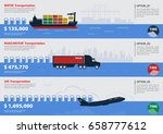 logistic infographic elements... | Shutterstock .eps vector #658777612
