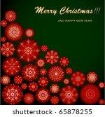christmas greeting card | Shutterstock .eps vector #65878255