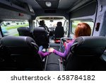 Family Travelling In Minivan To ...