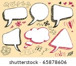 hand drawn speech and thought... | Shutterstock .eps vector #65878606