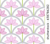 seamless pattern of lace pink... | Shutterstock .eps vector #658786282