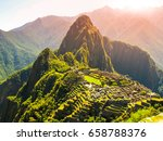 ancient inca city of machu... | Shutterstock . vector #658788376