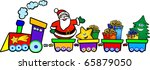 happy train with santa claus ... | Shutterstock .eps vector #65879050