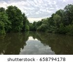 the trees reflection in the... | Shutterstock . vector #658794178
