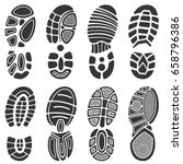 running sport shoes vector...