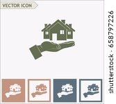house in hand vector icon. | Shutterstock .eps vector #658797226