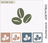 coffee beans icon | Shutterstock .eps vector #658797802