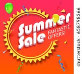 summer sale advertisement ... | Shutterstock . vector #658798366
