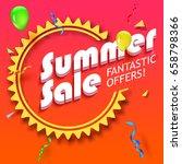 summer sale advertisement ...   Shutterstock . vector #658798366