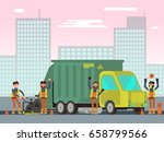 waste management and city...   Shutterstock .eps vector #658799566