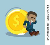 african businessman trying to... | Shutterstock .eps vector #658799755