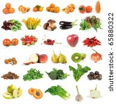 fruits and vegetables set   Shutterstock . vector #65880322