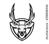 deer head animal mascot vector...   Shutterstock .eps vector #658808446