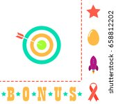target icon illustration. flat...