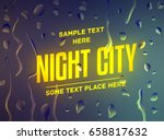 advertisement about the city... | Shutterstock .eps vector #658817632