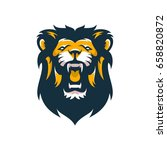 lion animal wild head mascot...   Shutterstock .eps vector #658820872