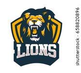 lion animal wild head mascot...   Shutterstock .eps vector #658820896