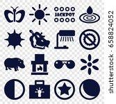 bright icons set set of 16
