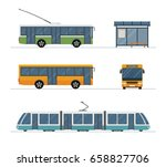 flat style concept of public... | Shutterstock .eps vector #658827706