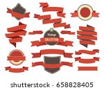 coloring banners ribbons and... | Shutterstock .eps vector #658828405