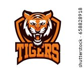 tiger animal mascot head vector ... | Shutterstock .eps vector #658828918