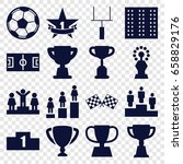 championship icons set. set of... | Shutterstock .eps vector #658829176