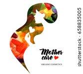 beautiful pregnant profile... | Shutterstock .eps vector #658835005