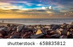 sunrise sky at indian beach...   Shutterstock . vector #658835812