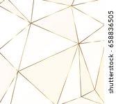 gold metallic polygonal texture ... | Shutterstock .eps vector #658836505