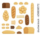 bakery products. vector... | Shutterstock .eps vector #658838572
