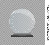 realistic glass round award... | Shutterstock .eps vector #658839982