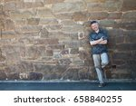 outdoor male portrait. portrait ... | Shutterstock . vector #658840255