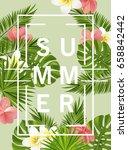 trendy summer card  banner ... | Shutterstock .eps vector #658842442