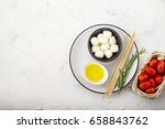 healthy snack  mouth watering... | Shutterstock . vector #658843762