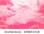 colorful sky and soft clouds... | Shutterstock . vector #658851418