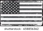 grunge american flag.vector... | Shutterstock .eps vector #658856362