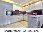 kitchen with appliances and a... | Shutterstock . vector #658858126