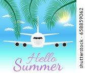 vector summer party poster... | Shutterstock .eps vector #658859062