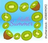 summer colorful poster. vector... | Shutterstock .eps vector #658859092