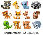 vector illustration of cute... | Shutterstock .eps vector #658860346