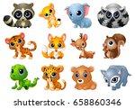 vector illustration of cute... | Shutterstock .eps vector #658860346