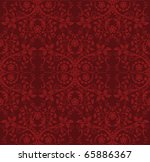 seamless detailed red floral... | Shutterstock .eps vector #65886367