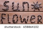sunflower word from sunflower... | Shutterstock . vector #658864102