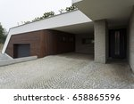 big pavement entrance to the... | Shutterstock . vector #658865596