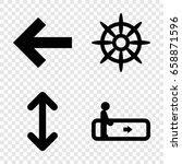 navigation icons set. set of 4...