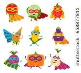 superheroes vegetables in... | Shutterstock .eps vector #658877812