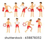 young lifeguard man character... | Shutterstock .eps vector #658878352